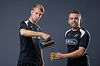 Pictured: Max Webborn and Adam Stepien. Thursday 29 August 2018<br /> Re: Swansea City FC player and staff profile photo-shoot at Fairwood Training Ground, Wales, UK