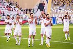 Islamic Republic of Iran squad celebrates winning after the AFC Asian Cup UAE 2019 Group D match between Vietnam (VIE) and I.R. Iran (IRN) at Al Nahyan Stadium on 12 January 2019 in Abu Dhabi, United Arab Emirates. Photo by Marcio Rodrigo Machado / Power Sport Images