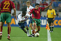 DaMarcus Beasley during the USA vs Portugal match in the 2002 World Cup in South Korea.