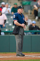Home plate umpire Jason Arends prior to the start of the Eastern League contest between the Portland Sea Dogs and the Trenton Thunder at Waterfront Park May 12, 2009 in Trenton, New Jersey. (Photo by Brian Westerholt / Four Seam Images)
