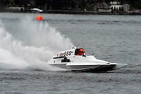 13-14 June, 2009, APBA Inboards, Walled Lake, Novi, MI. USA.Mike Casin, E-888, 5 Litre hydroplane.©F. Peirce Williams 2009 USA.F.Peirce Williams.photography.ref: RAW (.NEF) File Available