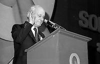 Quebec Premier Rene Levesque attend the Parti Quebecois convention, June 8, 1984
