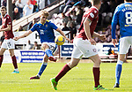 Arbroath v St Johnstone…15.08.21  Gayfield Park      Premier Sports Cup<br />Cammy Ballatyne ssees his shot go just wide<br />Picture by Graeme Hart.<br />Copyright Perthshire Picture Agency<br />Tel: 01738 623350  Mobile: 07990 594431