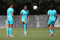Brazil Women are seen during a training session at Cardiff University, Cardiff, Wales - 27/07/12 - MANDATORY CREDIT: Gavin Ellis/SHEKICKS/TGSPHOTO - Self billing applies where appropriate - 0845 094 6026 - contact@tgsphoto.co.uk - NO UNPAID USE.