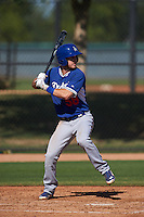 Los Angeles Dodgers Nick Dean (58) during an instructional league game against the Milwaukee Brewers on October 13, 2015 at Cameblack Ranch in Glendale, Arizona.  (Mike Janes/Four Seam Images)