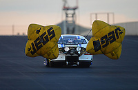 Jul, 20, 2012; Morrison, CO, USA: NHRA pro stock driver Allen Johnson during qualifying for the Mile High Nationals at Bandimere Speedway. Mandatory Credit: Mark J. Rebilas-US PRESSWIRE