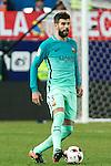 FC Barcelona's defender Gerard Pique in action  during the match of Copa del Rey between Atletico de  Madrid and Futbol Club Barcelona at Vicente Calderon Stadium in Madrid, Spain. February 1st 2017. (ALTERPHOTOS/Rodrigo Jimenez)