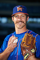 Midland RockHounds starting pitcher Daniel Mengden (15) poses for a photo before a game against the San Antonio Missions on April 22, 2016 at Nelson W. Wolff Municipal Stadium in San Antonio, Texas.  San Antonio defeated Midland 8-4.  (Mike Janes/Four Seam Images)