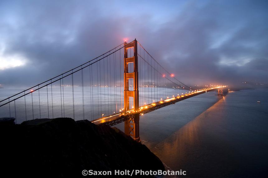 Golden Gate Bridge at dawn from Marin Headlands