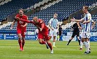 Wigan Athletic's Anthony Pilkington celebrates scoring his side's second goal<br /> <br /> Photographer Alex Dodd/CameraSport<br /> <br /> The EFL Sky Bet Championship - Huddersfield Town v Wigan Athletic - Saturday 20th June 2020 - John Smith's Stadium - Huddersfield <br /> <br /> World Copyright © 2020 CameraSport. All rights reserved. 43 Linden Ave. Countesthorpe. Leicester. England. LE8 5PG - Tel: +44 (0) 116 277 4147 - admin@camerasport.com - www.camerasport.com