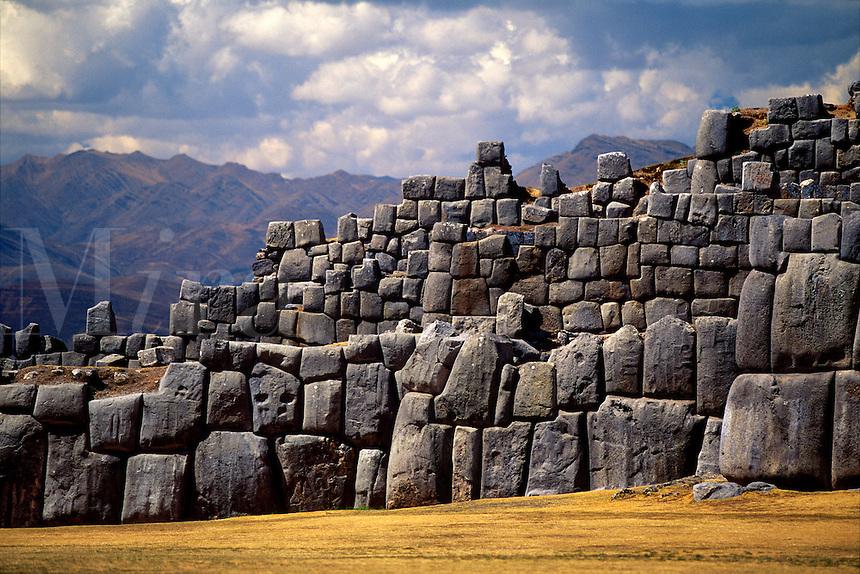 Sacsayhuaman Inca ruins Cuzco Peru.