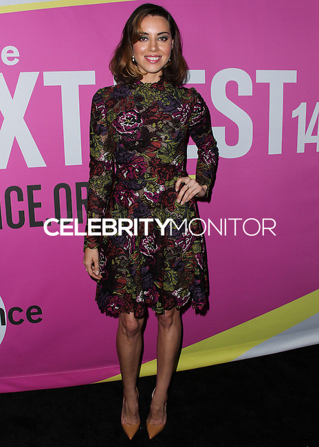 LOS ANGELES, CA, USA - AUGUST 08: Actress Aubrey Plaza arrives at the Sundance NEXT FEST Screening Of 'Life After Beth' held at the Ace Hotel Theatre on August 8, 2014 in Los Angeles, California, United States. (Photo by Xavier Collin/Celebrity Monitor)