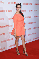 """Jana Perez<br /> poses at the Washington Hotel before the premiere of """"Our Kind of Traitor"""" held at the Curzon Mayfair, London<br /> <br /> <br /> ©Ash Knotek  D3113 05/05/2016"""
