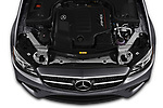 Car Stock 2020 Mercedes Benz E-Class AMG-E53 4 Door Sedan Engine  high angle detail view