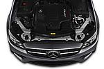 Car Stock 2020 Mercedes Benz E-Class AMG-E53 4 Door Sedan Engine  high angle detail view