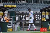 23rd May 2020, BORUSSIA-PARK, North Rhine-Westphalia, Germany; Bundesliga football, Borussia Moenchengladbach versus Bayer Leverkusen; Breel Embolo (BMG) leaves the field in the 12th minute due to an injury