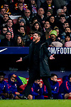 Head coach Diego Simeone of Atletico de Madrid reacts during the La Liga 2018-19 match between Atletico de Madrid and RCD Espanyol at Wanda Metropolitano on December 22 2018 in Madrid, Spain. Photo by Diego Souto / Power Sport Images