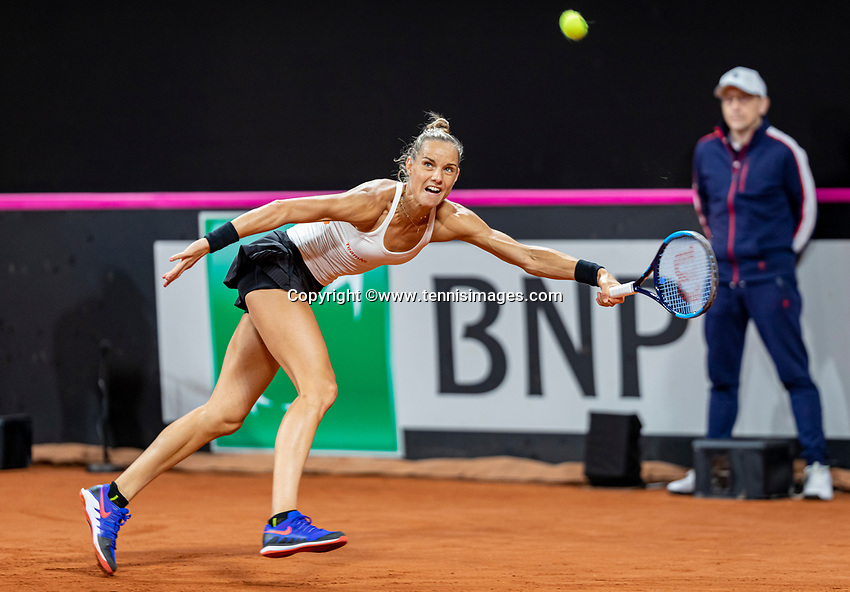 The Hague, The Netherlands, Februari 7, 2020,    Sportcampus, FedCup  Netherlands -  Balarus, Seccond match on friday:  Aranxta Rus (NED)<br /> Photo: Tennisimages/Henk Koster