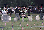 Burial of an Unknown Civil War Soldier on July 1, 1997, on the 134th anniversary of the Battle of Gettysburg, July 1,2, & 3, 1863, Gettysburg National Cemetery, Pennsylvania, USA. The soldier's remains were discovered by a tourist, March, 1996.
