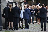 SERGE MOATI - LES OBSEQUES DE MIREILLE DARC A PARIS, FRANCE, LE 01/09/2017.