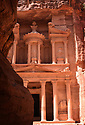 A PIECE OF JORDAN - TRAVEL FEATURE. SCENES FROM THE ANCIENT NABATEAN SITE OF PETRA, JORDAN.THE TREASURY.  PHOTO BY CLARE KENDALL. 07971 477316.