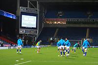 3rd November 2020; Ewood Park, Blackburn, Lancashire, England; English Football League Championship Football, Blackburn Rovers versus Middlesbrough; Blackburn players warm upmprior to the kick off