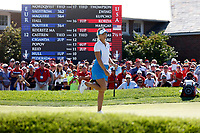 6th September 2021: Toledo, Ohio, USA;  Anna Nordqvist of Team Europe reacts to missing a birdie putt on the 18th hole during the singles matches of the Solheim Cup on September 6, 2021 at Inverness Club in Toledo, Ohio.