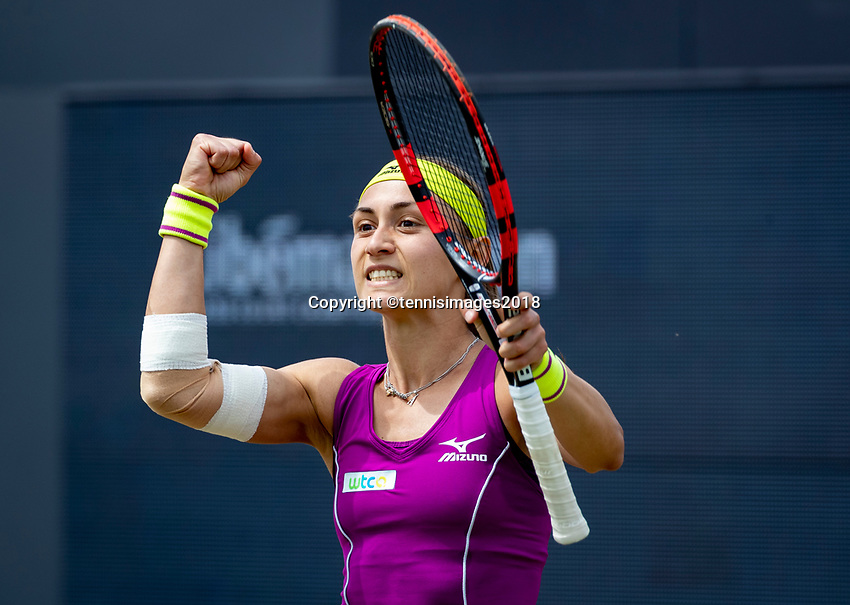 Den Bosch, Netherlands, 16 June, 2018, Tennis, Libema Open, Aleksandra Krunic (SRB) makes it to the final and jubilates<br /> Photo: Henk Koster/tennisimages.com