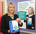 New Medicines Campaign 2014 : Pharmacist, Paula Harvey, unveils  the new poster in which she's features to launch the new Medicines Campaign.
