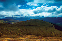 Meall Buidhe and the Crianlarich Munros from Beinn Odhar, above Tyndrum, Loch Lomond and the Trossachs National Park