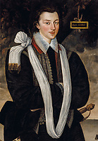BNPS.co.uk (01202 558833)<br /> Pic: Christies/BNPS<br /> <br /> Pictured: A portrait of Anthony Maria Browne, 2nd Viscount Montagu (1574-1629), full-length, in an allegorical landscape, that sold for £742,500.<br /> <br /> An impressive collection of furniture and artworks amassed by British designer Jasper Conran has sold for a massive £6.7m.<br /> <br /> Several paintings set new world auction records and the top lot was a 16th century portrait of Anthony Maria Browne, that sold for £742,500.<br /> <br /> The collection, which spans four centuries and had been gathered over 30 years, had filled Conran's impressive home at New Wardour Castle in Wiltshire.<br /> <br /> But he put the property on the market last August and after downsizing to a smaller home decided to auction most of his treasures.