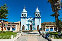 "Kirche ""Nuestra Señora del Carmen"" in der Stadt Celendin, Provinz Celendin, Peru, Südamerika"