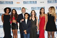 FAMILLE BESSON, VIRGINIE BESSON SILLA, SATEEN BESSON, LUC BESSON, MAO BESSON, JULIETTE BESSON, THALIA BESSON AND SHANNA BESSON - AVANT-PREMIERE DU FILM 'VALERIAN ET LA CITE DES MILLES PLANETES' A LA CITE DU CINEMA, SAINT-DENIS, FRANCE, LE 25/07/2017.