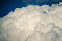 Soft, airy, light, puffy, calm, serenity, thunderhead. Connotations - Religious, power. close-up.