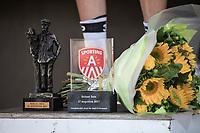Taco Van der Hoorn's (NED/Roompot) victory trophy's. <br /> <br /> 92th Schaal Sels 2017