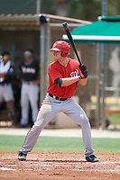 GCL Nationals first baseman Jackson Cramer (25) at bat during the second game of a doubleheader against the GCL Marlins on July 23, 2017 at Roger Dean Stadium Complex in Jupiter, Florida.  GCL Nationals defeated the GCL Marlins 1-0.  (Mike Janes/Four Seam Images)