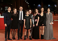 Da sinistra: l'attore Marco Valerio Montesano, la regista Cristina Comencini, gli attori Vincenzo Amato, Clelia Rossi Macelli, Giovanna Mezzogiorno, Beatrice Grannò, Astrid Meloni e Barbara Ronchi posano durante il red carpet del film 'Tornare' alla 14^ Festa del Cinema di Roma all'Aufditorium Parco della Musica di Roma, 26 ottobre 2019. <br /> From left: italian actor Marco Valerio Montesano, italian director Cristina Comencini, italian actors Vincenzo Amato, Clelia Rossi Macelli, Giovanna Mezzogiorno, Beatrice Grannò, Astrid Meloni and Barbara Ronchi pose on the red carpet of the movie 'Tornare' during the 14^ Rome Film Fest at Rome's Auditorium, on 26 October 2019.<br /> UPDATE IMAGES PRESS/Isabella Bonotto