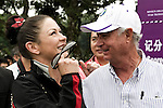 Catherine Zeta-Jones and Javier Ochoa during the Mission Hills Start Trophy at the Mission Hills Golf Resort on October 31, 2010 in Haikou, China. The Mission Hills Star Trophy is Asia's leading leisure liflestyle event and features Hollywood celebrities and international golf stars. Photo by Victor Fraile