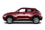 Car Driver side profile view of a 2015 Nissan JUKE TEKNA 5 Door SUV 2WD Side View
