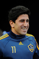 Alecko Eskandarian (11) of the Los Angeles Galaxy. The Los Angeles Galaxy defeated the New York Red Bulls 3-1 during a Major League Soccer match at Giants Stadium in East Rutherford, NJ, on July 16, 2009.