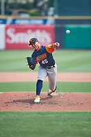 Las Vegas Aviators starting pitcher Jesús Luzardo (45) delivers a pitch to the plate against the Salt Lake Bees  at Smith's Ballpark on July 25, 2021 in Salt Lake City, Utah. The Aviators defeated the Bees 10-6. (Stephen Smith/Four Seam Images)