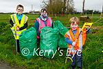 The Keane family from Greenville Listowel who has collected rubbish on the side of the road on Thursday. Front right: Layton Keane. Back l to r: Tyler and Clara Keane.
