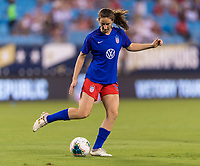 CHARLOTTE, NC - OCTOBER 3: Andi Sullivan #25 of the United States warms up during a game between Korea Republic and USWNT at Bank of America Stadium on October 3, 2019 in Charlotte, North Carolina.