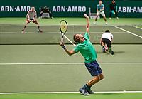 Rotterdam, The Netherlands, 14 Februari 2019, ABNAMRO World Tennis Tournament, Ahoy, Semis, Doubles,<br /> Jeremy Chardy (FRA) Henri Kontinen (FIN) vs Marcel Granollers (ESP) Nikola Mektic (CRO),<br /> Photo: www.tennisimages.com/Henk Koster