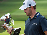 5th September 2021: Atlanta, Georgia, USA;   Patrick Cantlay (USA)  looking into the FedExCup trophy after the final round of the PGA TOUR Championship on September 5, 2021 at East Lake Golf Club in Atlanta, GA. (Photo by John Adams/Icon Sportswire)