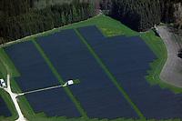 aerial photograph solar farm in Bavaria, Germany | Luftaufnahme eines Solarparks in Bayern, Deutschland
