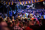 """© Joel Goodman - 07973 332324 . 22/08/2014 .  Manchester , UK . Two drag queens amongst the crowd on Canal Street . Manchester Pride """" Big Weekend """" in Manchester's """" Gay Village """" today ( 22nd August 2014 ) . Photo credit : Joel Goodman"""