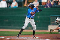 Hudson Valley Renegades second baseman Joseph Astacio (13) at bat during a game against the Vermont Lake Monsters on September 3, 2015 at Centennial Field in Burlington, Vermont.  Vermont defeated Hudson Valley 4-1.  (Mike Janes/Four Seam Images)