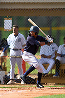 FCL Yankees Madison Santos (34) bats during a game against the FCL Tigers West on July 31, 2021 at Tigertown in Lakeland, Florida.  (Mike Janes/Four Seam Images)