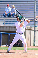 Beloit Snappers catcher John Jones (32) at bat during a Midwest League game against the Cedar Rapids Kernels on June 2, 2019 at Pohlman Field in Beloit, Wisconsin. Beloit defeated Cedar Rapids 6-1. (Brad Krause/Four Seam Images)